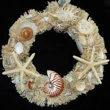 Christmas Wreaths Decorated With Seashells by 40 Best Crafting With Seashells Images On Pinterest Seashell