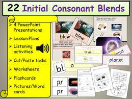 phonics initial consonant blends presentations plans listening
