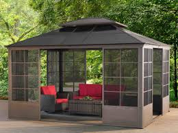 Gazebo For Patio Sunjoy 12 Ft W X 14 Ft D Metal Patio Gazebo Reviews Wayfair