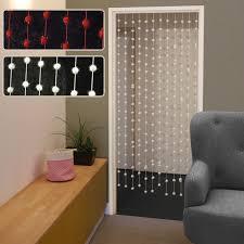 rideau de rideau de porte à fil avec boules de neige 180x90cm pas cher