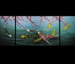 Zen Home Decor Store Art Zen Koi Fish Painting Modern Wall Art Decor