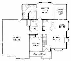 Floor Plans With 3 Car Garage Plan 1111 2 Bedroom Ranch W 3 Car Side Load Garage