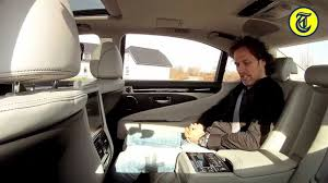 lexus ls backseat lexus ls600h l president review by autovisie nl youtube