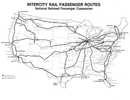 Amtrak Route Map by Railroad Documents
