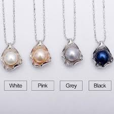 pearl pendant necklace silver images Huge pearl pendant 10 11mm natural white pearl available in 4 jpg