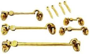 silent cabin hook cupboard latch fastening solid brass gate hook