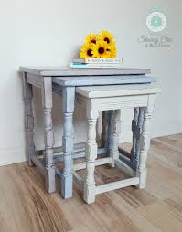 now sold shabby chic upcycled painted nest of tables in annie