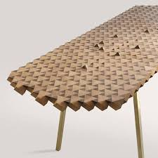 geometric solid wood furniture enlivens poetry of mathematics