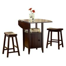 Drop Leaf Bistro Table Bernards Wenge Drop 3 Leaf Pub Table Set With Stools Wenge