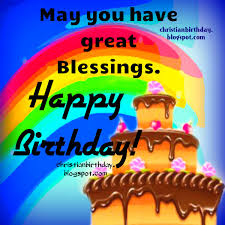 great blessings on your happy birthday christian card christian