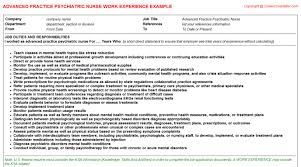 Psychiatric Nurse Resume Sample Resume For Advertising Project Coordinator Changing Careers