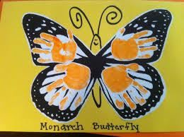 monarch butterfly hand prints hand u0026 foot print art pinterest