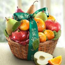 gift baskets sympathy sympathy fruit favorites basket aa4103s a gift inside
