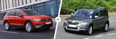 volkswagen suv 2012 vw tiguan vs skoda yeti suv comparison carwow
