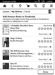 kindle paperwhite and goodreads integration dummies