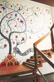 126 best wall arts images on pinterest wallpaper home and spaces mata ni pachedi a textile craft translated into a cheerful wall mural
