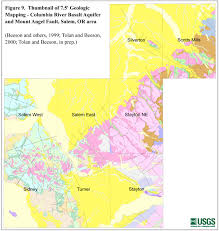 Columbia River Map Pacific Northwest Geologic Mapping And Urban Hazards