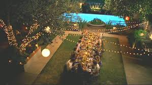 long dining table for backyard party quecasita