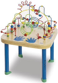 wooden bead toy table finger fun table wires and beads maze rollercoaster table bead