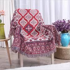 plaid coton pour canapé plaid coton couverture en coton couvre lit pour canapé et chaise
