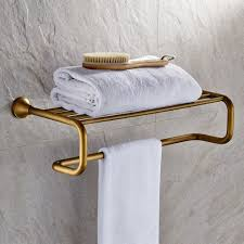 Bathroom Towel Racks And Shelves by Antique Brass Towel Bar With Shelf Fg 601 Wholesale Faucet E Commerce