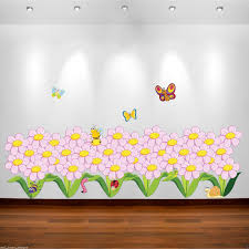 wall decals stickers home decor home furniture diy flowers butterfly bugs full colour wall sticker bedroom decal transfer wsd222