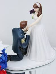 cowboy wedding cake toppers officer cop sheriff wedding cake topper kneel