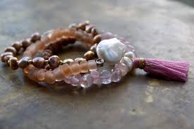 rose quartz beads bracelet images Gypsy bangle set pink bohemian bracelet stack rose gold boho jpg