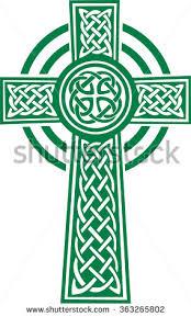 green celtic cross details stock photo photo vector illustration