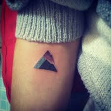35 geometric mountains tattoos