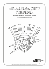 oklahoma city thunder coloring pages kids coloring europe