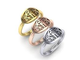 monogram ring gold 41 best signet rings monogram rings images on monogram