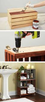 Diy Bathroom Storage Diy Bathroom Storage Shelves Made From Wooden Crates Wooden