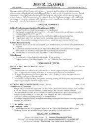 resume objectives for food service food service waitress waiter