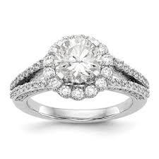 mounting rings images 14k white gold round halo engagement ring mounting JPG