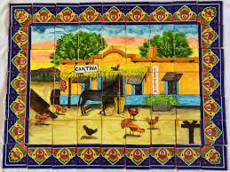 04 mexican talavera mosaic mural tile handmade folk art cantina