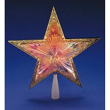 Star Christmas Tree Toppers Lighted - 10
