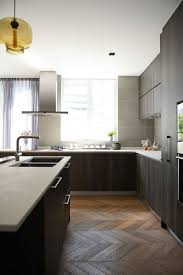 124 best kitchens images on pinterest kitchen architecture and contemporary kitchen by hoo interior design styling chevron not herringbone floor pattern