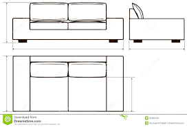 drawing of modern sofas stock vector image of icon drawing