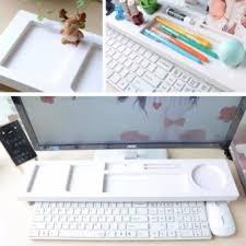 Desk Organizer Shelves Multipurpose Keyboard Desk Organizer Storage Racks White