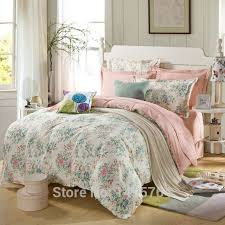 Pink Rose Duvet Cover Set Aliexpress Com Buy 100 Cotton Pink Rose And Mint Green Bedding