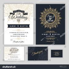 Wedding Invitation Rsvp Cards Vintage Wedding Invitation Mehndi Mandala Design Stock Vector
