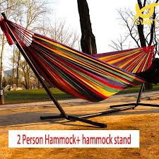 free shipping high quality cotton hammock stand nylon hammock