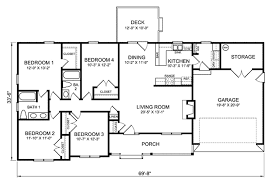 4 bedroom ranch floor plans 4 bedroom ranch house plans house plans