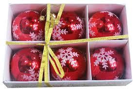 amazon com festive season snowflake shatterproof christmas ball