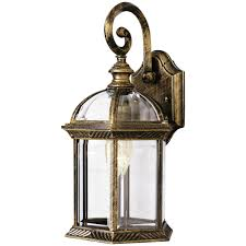 trans globe lighting 1 light outdoor black and gold wall lantern