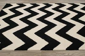 Black And White Zig Zag Rug Black And White Chevron Rug Doherty House Contemporary Style