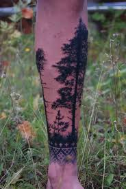 creative pine tree arm tattoomagz
