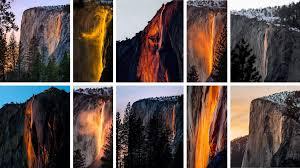 tatiana schlossberg at yosemite a waterfall turns into a firefall the new york times