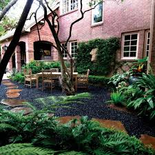 to beautify your yard with black pebbles